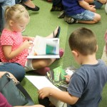 kids reading in program