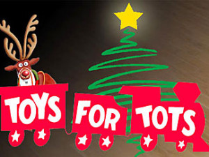 Toys for Tots Donations at the Library